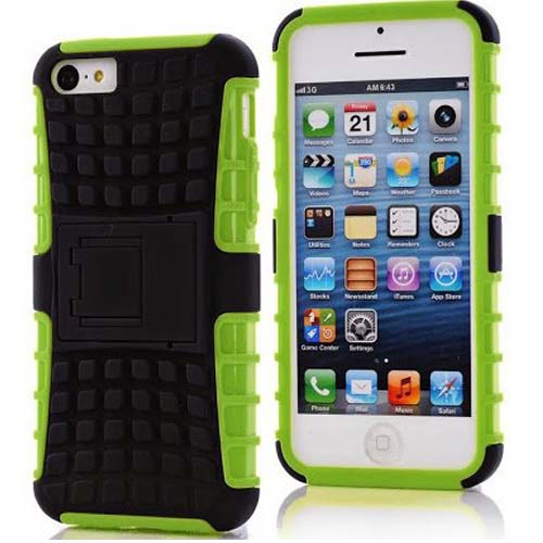 Dual Layer Hybrid Hard/Soft Protective Case for iphone 5C